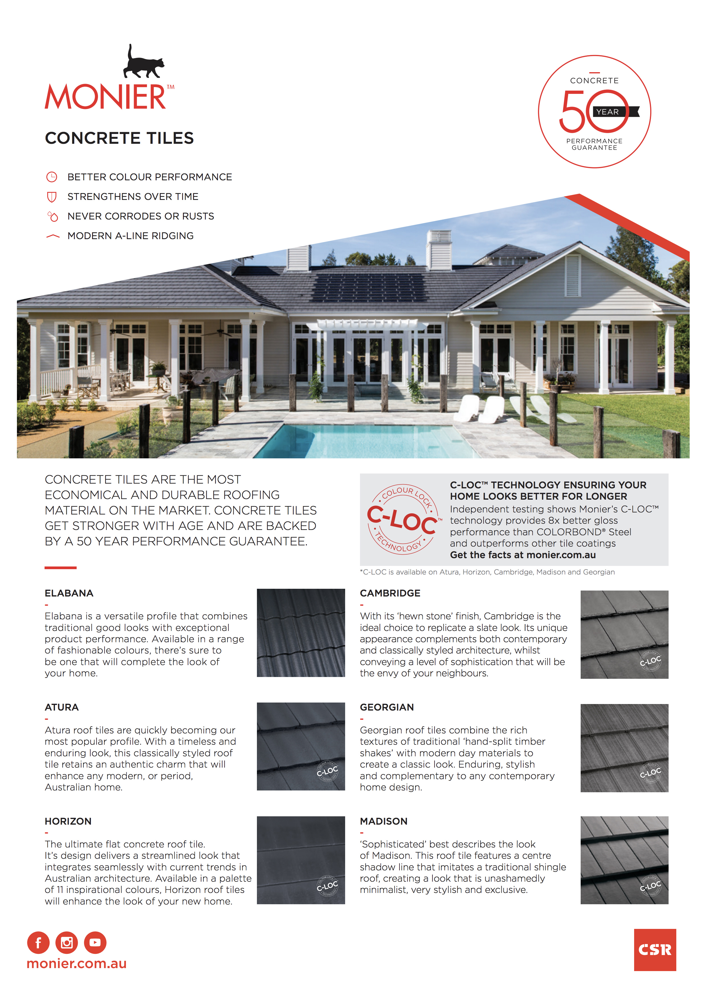 Monier Concrete Roof Tiles Raving Roofing Melbourne